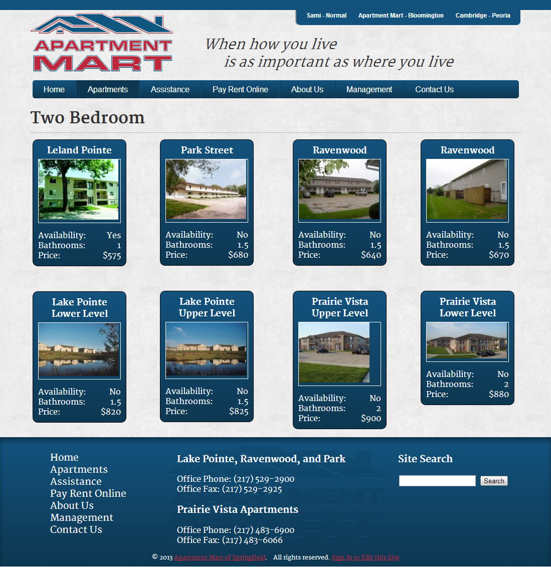 Apt Search Websites: Apartment Mart Of Springfield Web Development Project